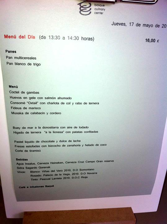 Almuerzo En El Basque Culinary Center Gastroeconomy