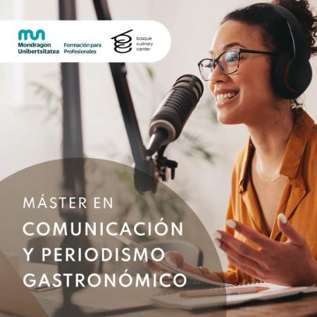 Master en Comunicación y Periodismo Gastronómico