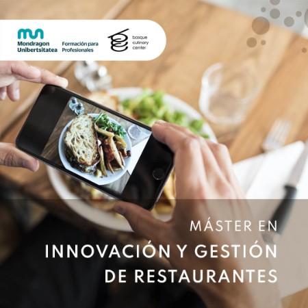 Máster en Innovación y Gestión de Restaurantes (Sept 2021)